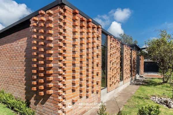 brick wall cladding by cladding studio goa