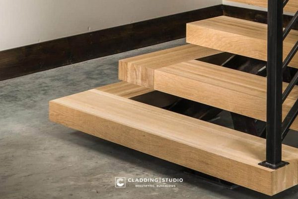 Wooden Stair Treads by Cladding Studio Goa