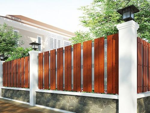 wooden cladding in fence